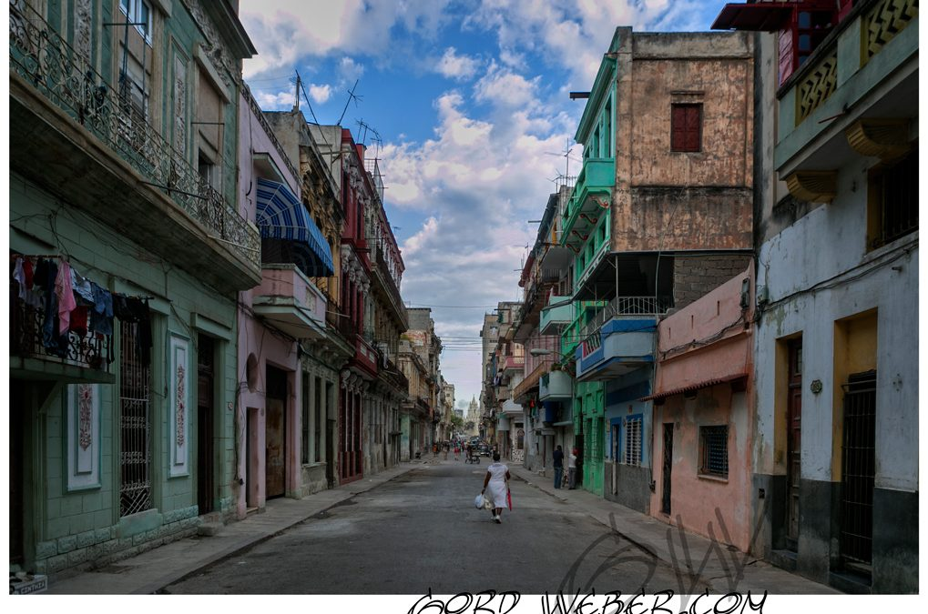 The Buildings and streets of Havana Cuba